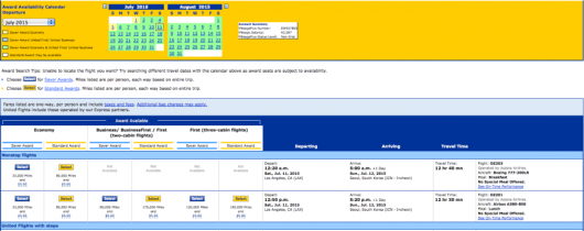 You can use United miles to book it, but it'll cost you 120,000 each way!
