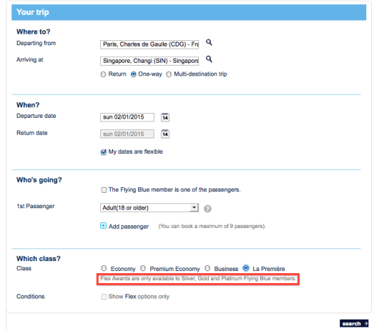 Air France still won't let you book these if you're not an elite.