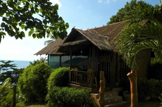 """One of my favorite Airbnb rentals of all time, """"The Glass Cottage"""" in Koh Phangan, Thailand."""