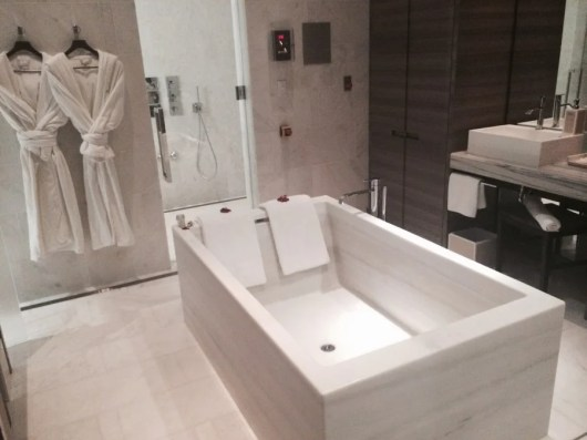 The Spa Nalai has a sexy hydrotherapy tub with incredible views from the 25th floor.