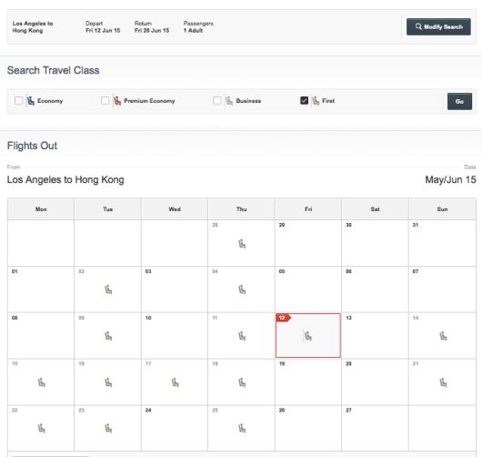 QF Calendar LAX HKG