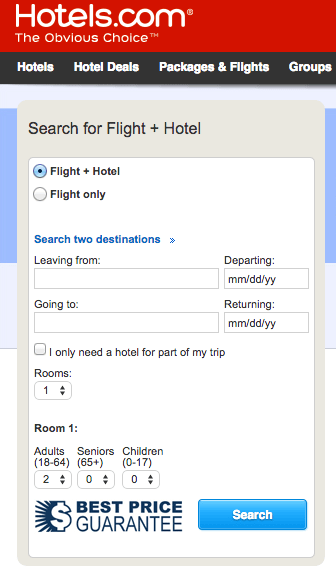 Hotels.com is the clear choice, as it offers both hotels and flights, and earns the most points - 4x / $1.