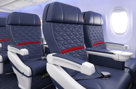 Delta's new first class seats.