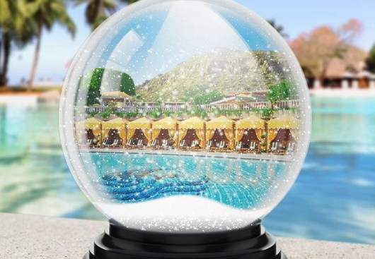 Shake the snowglobe to win free nights