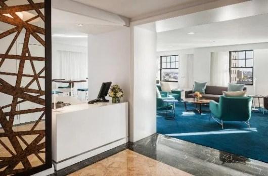 Business Lounge at Philadelphia's Radisson Blu Warwick