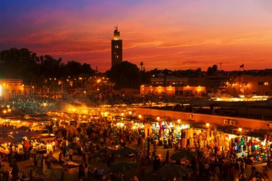 The Marrakesh market in Morocco. Photo courtesy of Shutterstock.