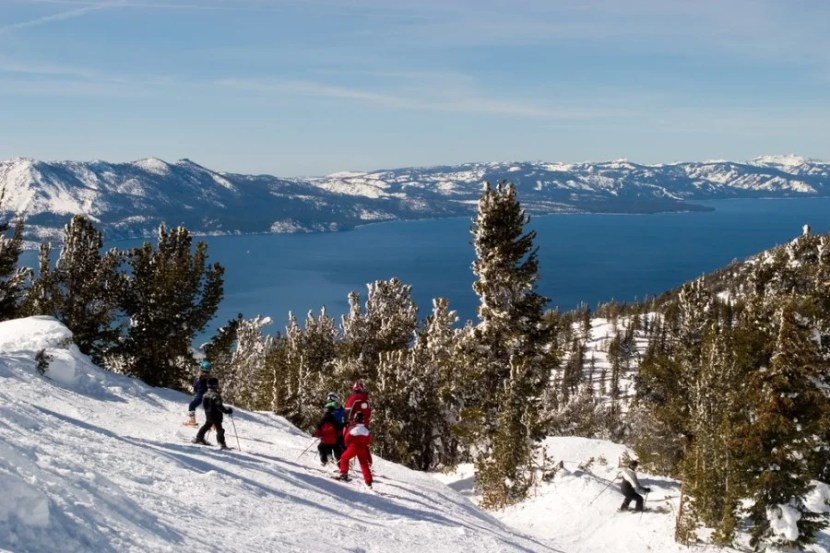 "Lake Tahoe is just one hour from Reno. Image courtesy of <a href=""http://www.shutterstock.com/pic-3539218/stock-photo-ski-school.html?src=eUInae3-5t5wnTPLTsYRgw-1-28"">Shutterstock</a>."