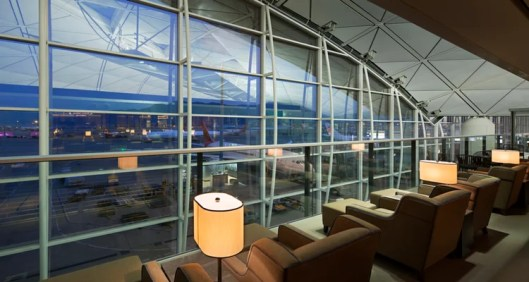 The new Plaza Premium Lounge above Gate 40 in Hong Kong