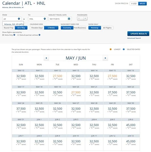 ATL-HNL Econ May June 15