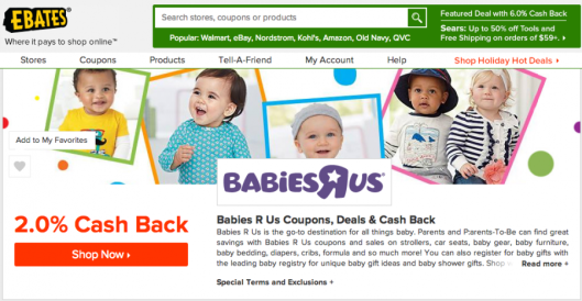 Babies R Us is one popular retailer for baby registries that is available on several online shopping portals.