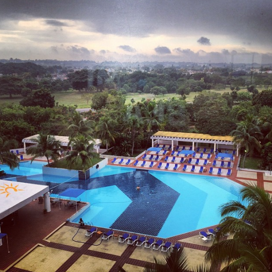 Although we didn't get to stay in Old Havana, our hotel, The Occidental Miramar, did have a pretty nice pool.