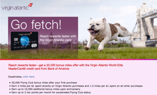 The Virgin Atlantic Mastercard earns 3x miles on Virgin purchases and 1.5x miles on everything else.