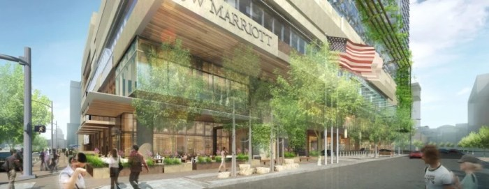 A rendering of the massive new JW Marriott Austin.