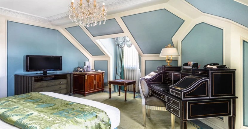 A Deluxe Room at The Bentley in Kensington—part of the Worldpeak