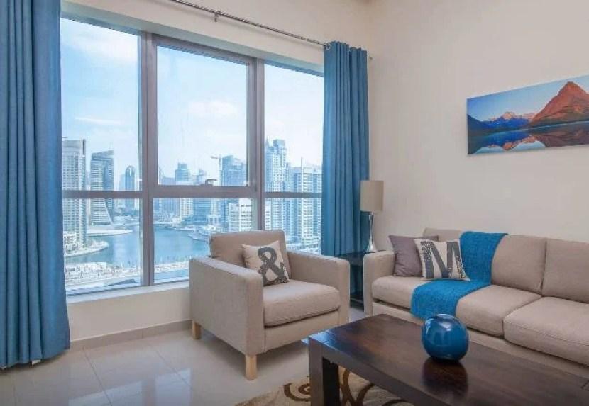 Amazing views from this Dubai apartment rental.