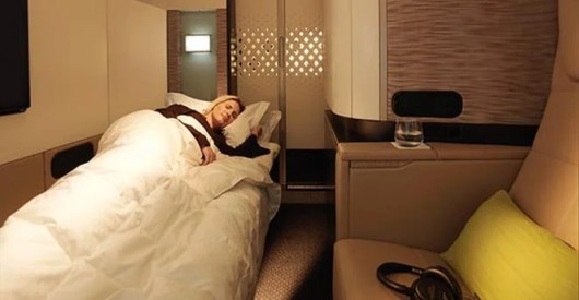 Etihad's A380 First Apartment, the largest first class suite in the sky, is readily available using miles