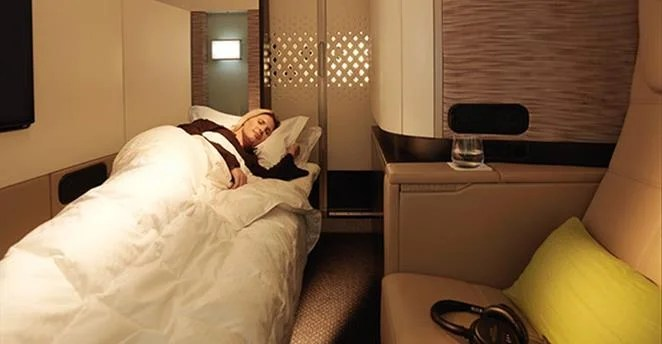 Etihad's A380 First Apartment, the largest first-class suite in the sky, is readily available using miles