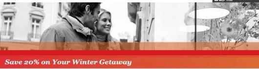 Save 20% at participating IHG properties for their winter sale