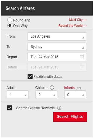 Log into Qantas and use the flexible search options to find awards quickest.