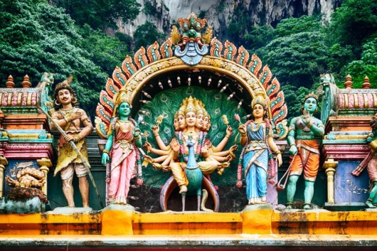 Hindu temple at the Batu Caves. Photo courtesy of Shutterstock.
