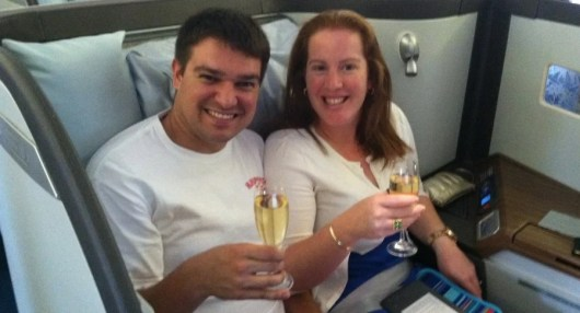 My wife and I used a credit card sign-up bonus to fly Cathay Pacific first class to Bali and then got a retention bonus when the annual fee came due.