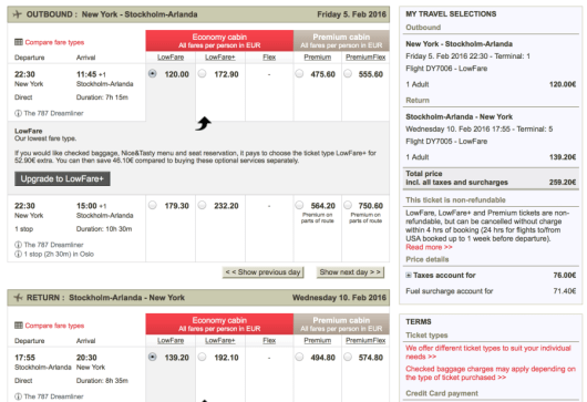You can book a roundtrip flight from NYC to Stokcholm