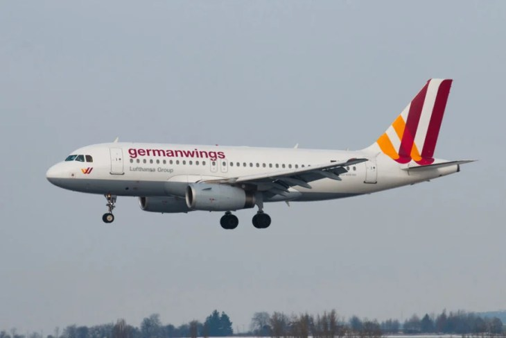 Tuesday's crash of a GermanwingsAirbus A320 may have been deliberately caused by its co-pilot. Photo courtesy of Shutterstock.
