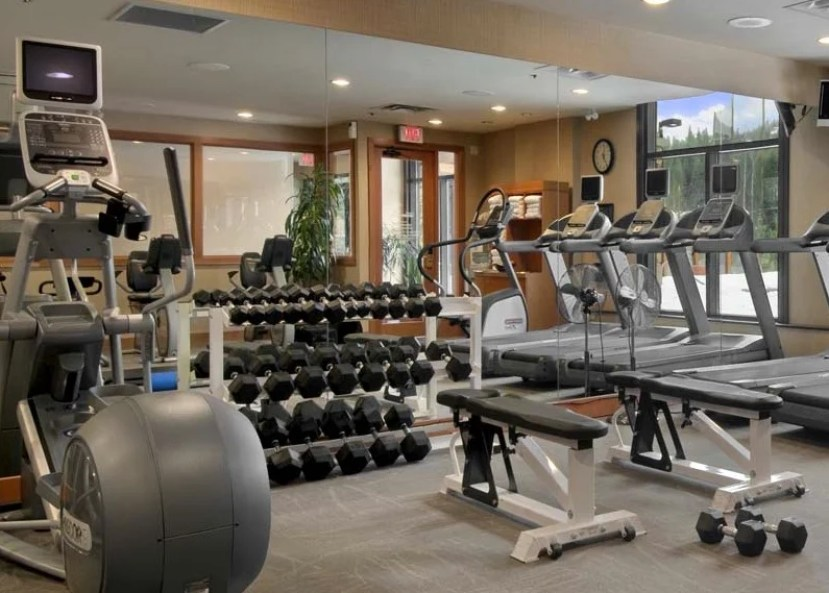 The gym fulfills all the requirements for those who want to keep in shape.