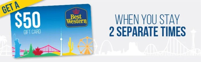Get a $50 Best Western gift card after two stays