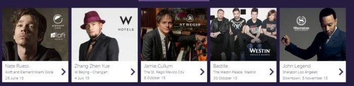 Use points for concerts at SPG properties and win free points, stays & more