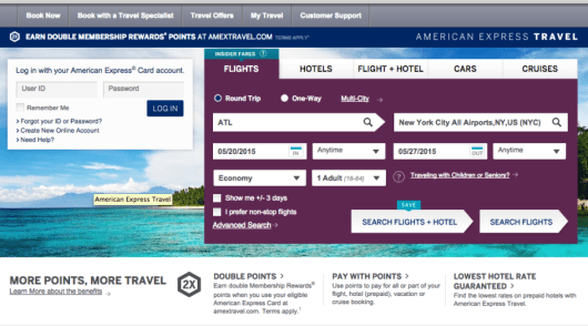 The American Express travel engine boasts perks and bonus points, but does it all add up to make the superior online booking method?