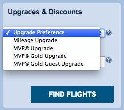 Alaska website upgrade selection