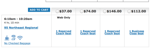 Head from Boston to New York for $37 one-way on the Amtrak.