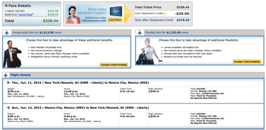 Newark-Mexico City for $326 on United.