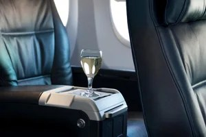 United First consists of leather recliner seats and extra leg room.