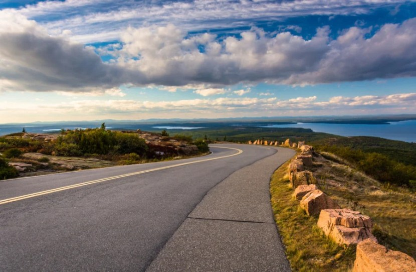 The road to Cadillac Mountain, in Acadia National Park, Maine.