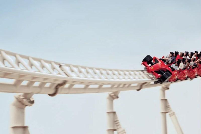 Formula Rossa - Ferrari World; Photo courtesy of Ferrari World
