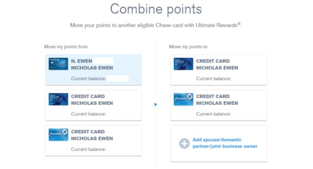 Ultimate Rewards Combine points (Nick) 1