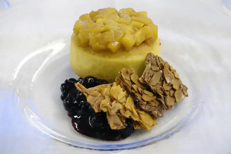 For desert: A caramelized apple tart.