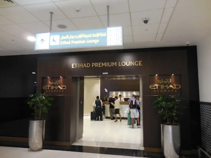 Etihad's Premium Lounge in Terminal 3 currently serves both business and first customers.