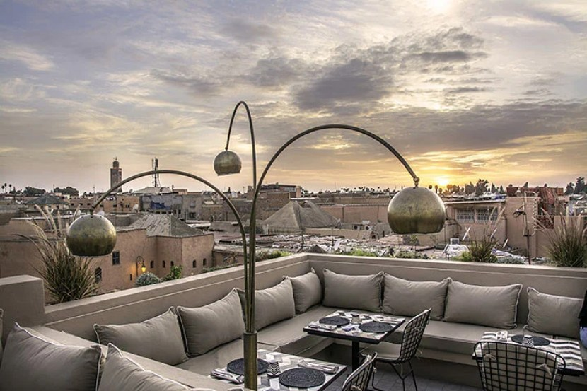 Nomad has a chic rooftop overlooking Marrakech