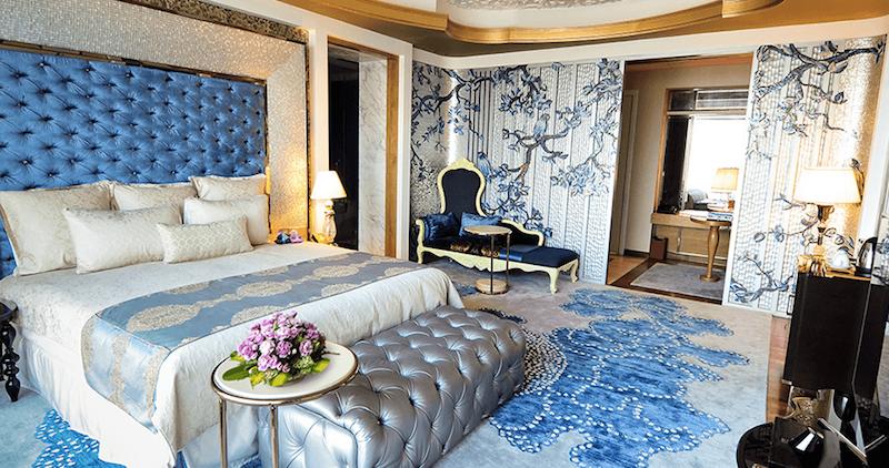 A guestroom at the Reverie Saigon.