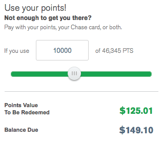 """I can enter the specific number of points I want to redeem or use the sliding bar to dial in to my """"perfect"""" redemption level"""