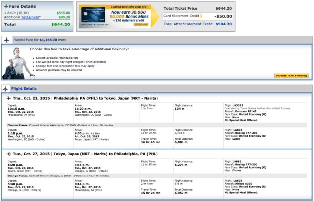 Philadelphia (PHL)-Tokyo (NRT) for $644 on United.