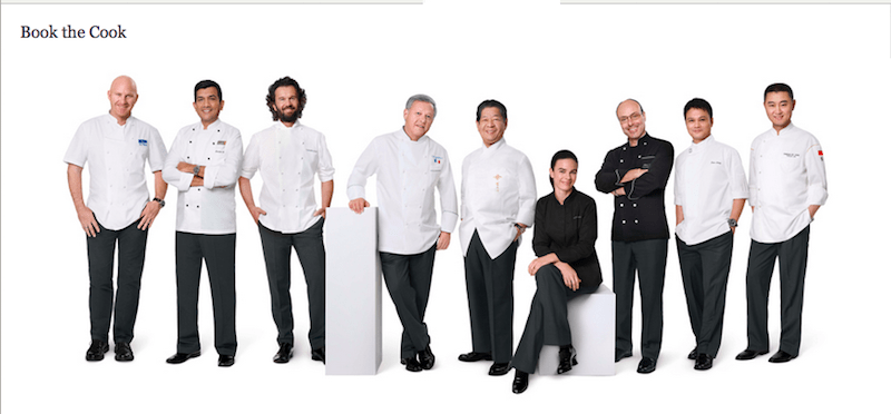 Singapore Airlines employs a panel of celebrity chefs to create its menus.