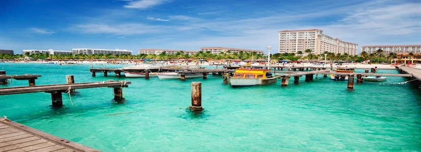 Fly roundtrip to Aruba from the US for 25,000 ThankYou points transferred to Flying Blue. Photo courtesy of Shutterstock.