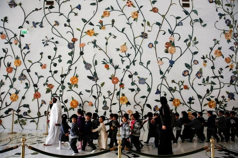 Sheikh Zayed Grand Mosque on Wednesday, January 22, 2014 in Abu Dhabi