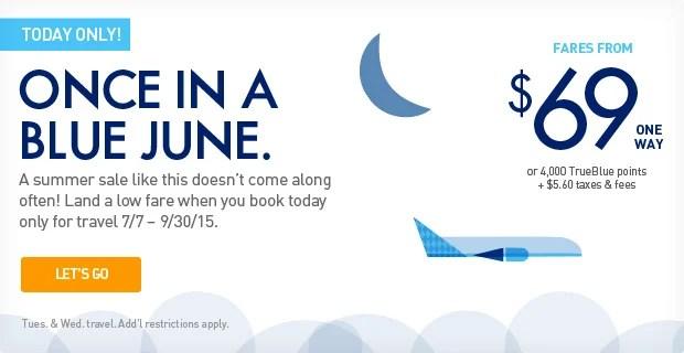 Score flights on JetBlue starting at $69.