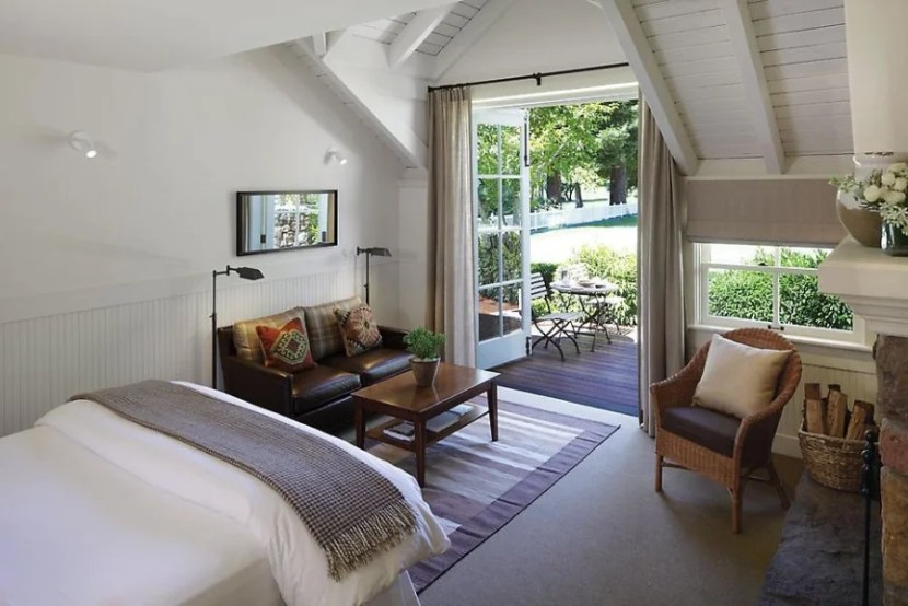 A Lawnview room at Meadowood. Photo courtesy of Meadowood.