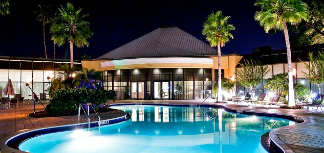 The pool area at the Park Inn Orlando can be a great place to relax after a full day of Disney theme-parking